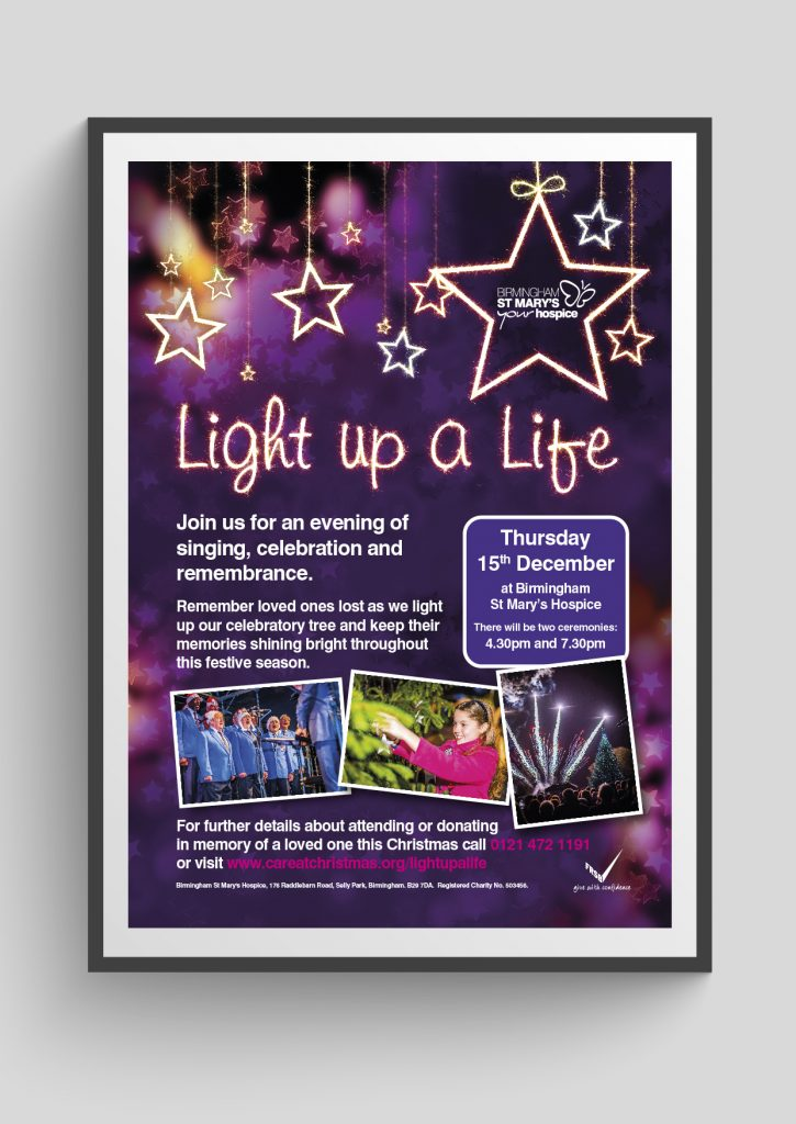 Birmingham St Mary's Hospice Light up a Life Campaign
