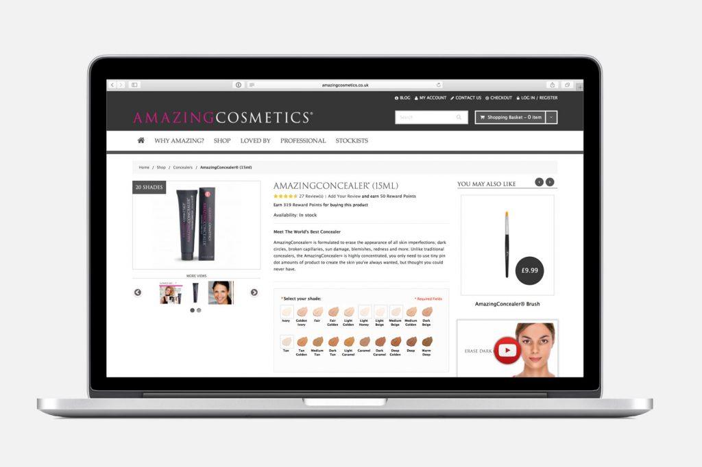 Amazing Cosmetics eCommerce Website